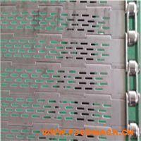 定制不锈钢冲孔输送链板 耐高温输送粽子专用长孔链板